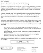 Consultation Letter Townshend, Traffic Calming (EDG1673 SK6)(Region West)