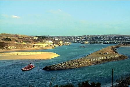 A 12-seat passenger rib ferry like our mock-up could operate between Hayle and St Ives
