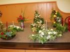 Tableau of Christmas Flower Arrangements
